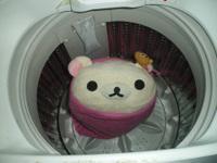コリラックマと洗濯機
